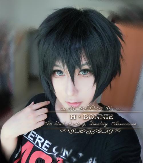Actors Anime Wigs for Men Best Quality Male Black Short Wigs c4a948e3b
